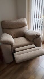 2 seater manual reclining settee and chair