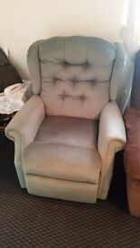 Two electric recliner chairs + two seater sofa