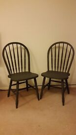 Pair of shabby chic painted chairs