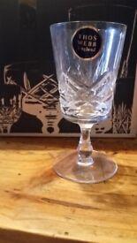 Thos Webb crystal sherry glasses 6 set