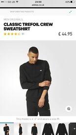 Adidas black stylish sweatshirt XL
