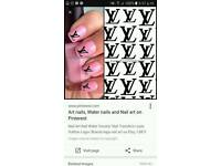 Chanel & lv nail stickers