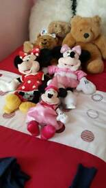 Build a bear and mini mouse soft toys