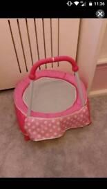 Toddler pink trampoline