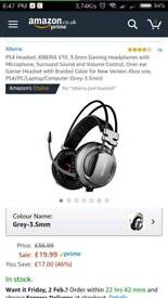 XIBERIA V10, 3.5mm Gaming Headphones with Microphone, Surround Sound and Volume Control, Over-ear