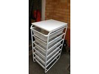 IKEA Algot Frame - 6 mesh baskets - top shelf