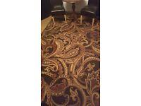 Dark chocolate 100% Viscose pite machine made area rug