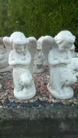 Concrete garden angels