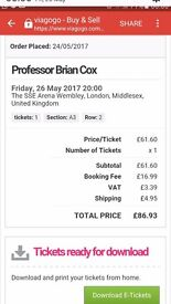 A night with Prof Brian Cox. Second row, centre stage.. Need i say more. Only one ticket left!