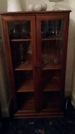 Pair glass display cabinets