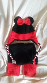 Brand new, hand made, knitted hat for girls