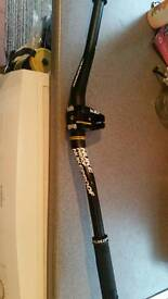 Nukeproof handle bars, stem and grips