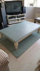 Large solid pine heavy coffee table