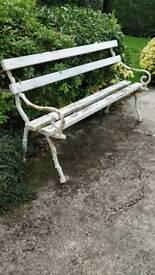 Original Victorian casr iron garden seat circa 1880