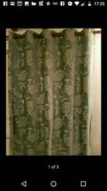 Next curtains teal green cost £250 new selling due to change of decor