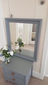 Bevelled mirror finished in Rustoleum Furniture Paint 63 x 73cm