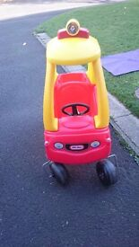 Little tikes cozy coupe with working light