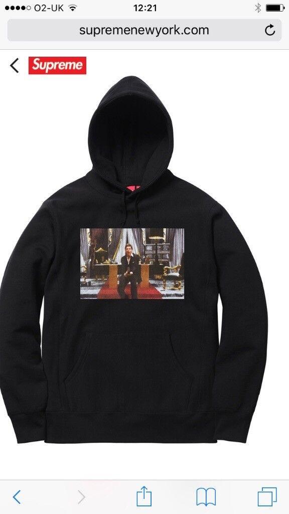 Supreme/Scarface Black Friend Hoodie Large