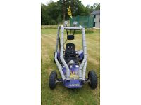 Petrol Go Kart Carter American Twin Axle Drive with Lights