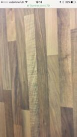 4 m length wood block kitchen worktop, available in other sizes, please see Description