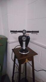 Unusual lambretta table lamp