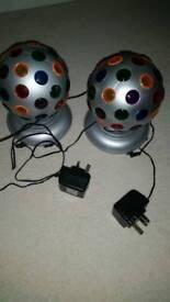 Pair of Disco Globes