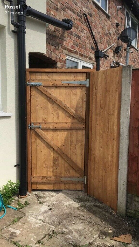 Solid timber gates made to measure side gate, back gate, garden gate Liverpool
