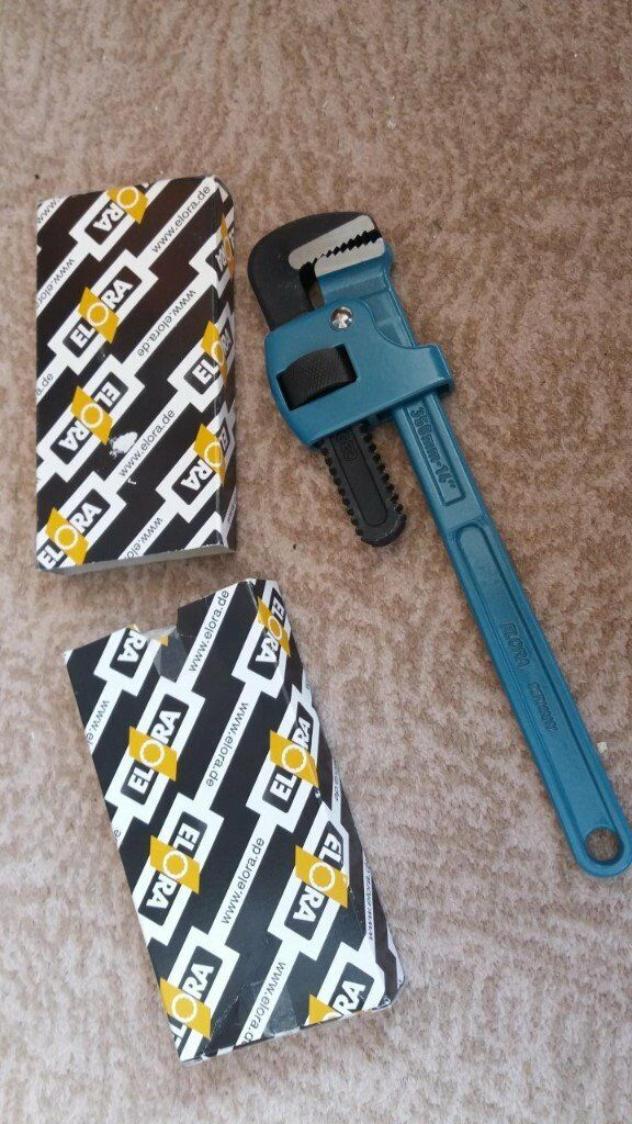 BRAND NEW - ELORA One hand pipe wrench, span width 38 mm, ELORA-75-14