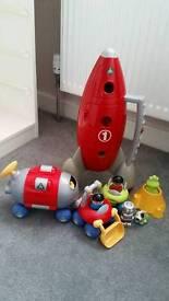 Happyland Space Rocket & accessories