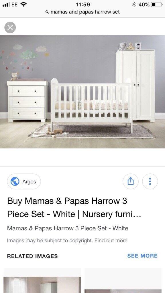 New Mamas And Papas Nursery Furniture Set