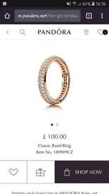 Pandora eternity ring rose gold