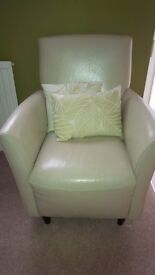 Leather Chair - Cream