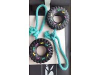 2 Tyre on a Rope Dog toys - COLLECTION ONLY