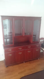 FREE ** Solid Mahogany Wall Unit / Sideboard in Very Good Condition **FREE