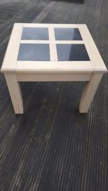 Homebase Oak and Granite Side Table