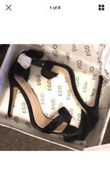 Ego Shoes Vesenya Black Velvet Stiletto Heels