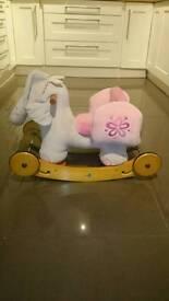 Labede Pink Elephant Baby Rocker