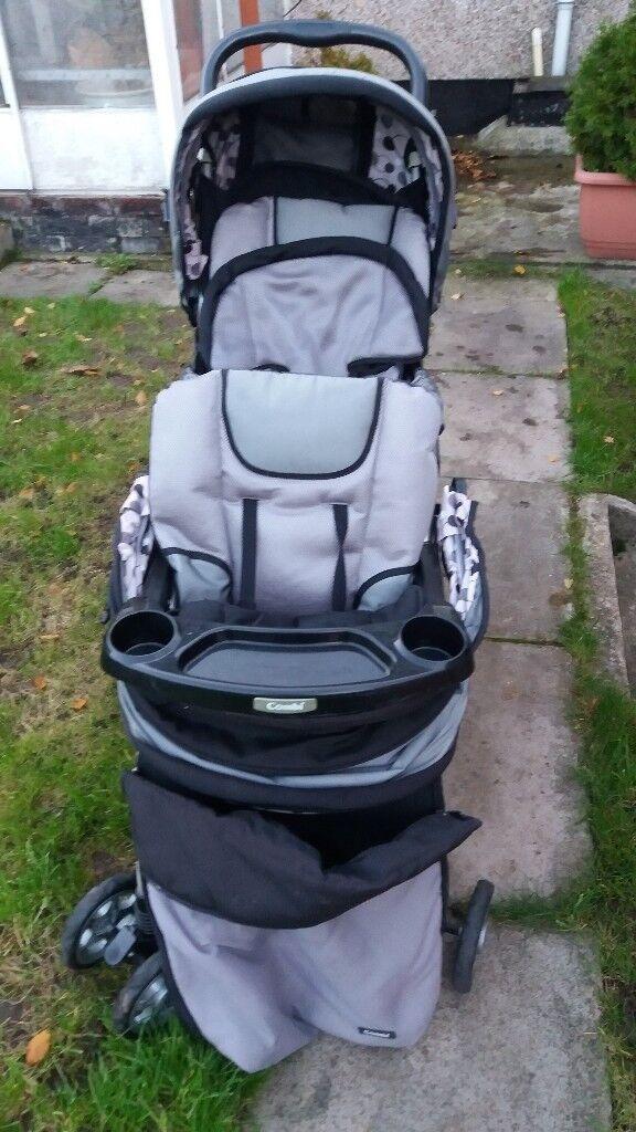 double baby buggy hardly used