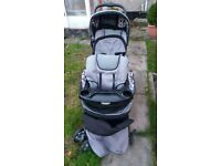double baby buggy hardly used