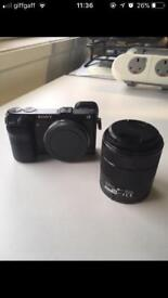 Sony NEX 7 with 18-55mm lens and IR remote