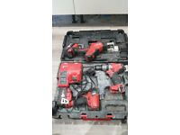 Milwaukee impact driver and drill and saw