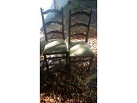 6 wood dinning chairs