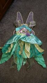 Tinker Bell Costume with Wings. 5-6 years