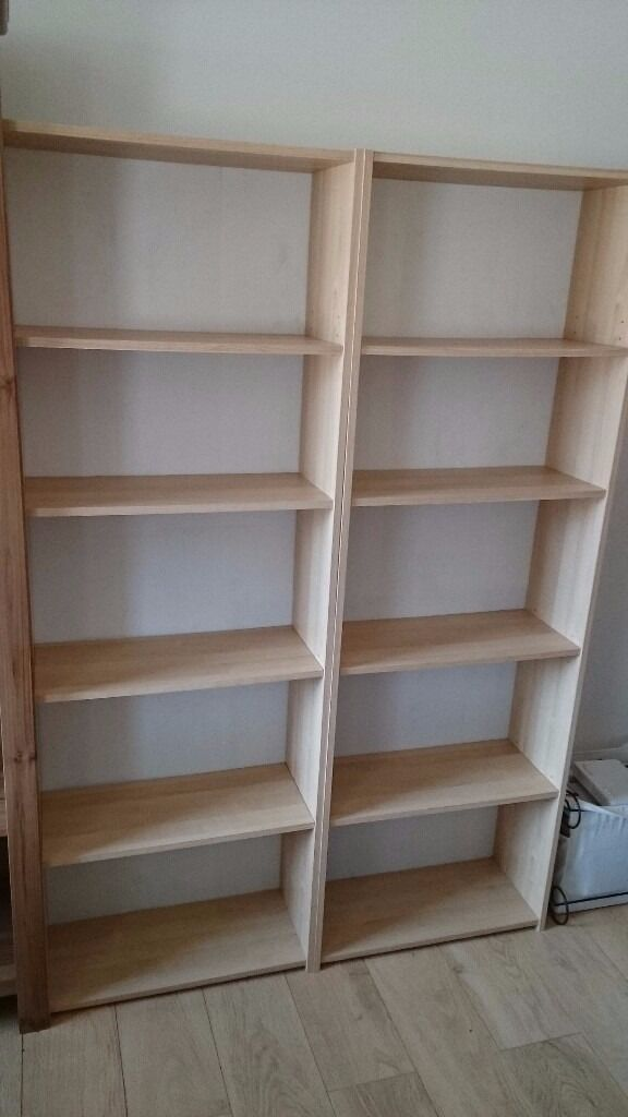 BILLY IKEA bookcases (x2) in pine effect for prompt sellCOLLECTION ONLYin Kelvinbridge, GlasgowGumtree - BILLY IKEA bookcases (x2), used, bought around 7 years ago for a book lovers, now looking for a new home. Bookcases are in very good condition, but some sign of use are present (on the back of the bookcases, this white security measure has...