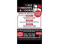 Windows doors locks repair or replace