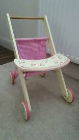 Wooden toy push chair