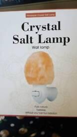 Crystal salt wall lamp