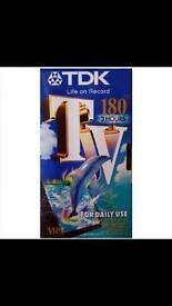 TDK 180 vhs cassette brand new
