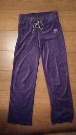 Purple velvet track siut