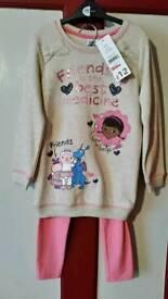 Girls jumper dress and leggings age 4-5
